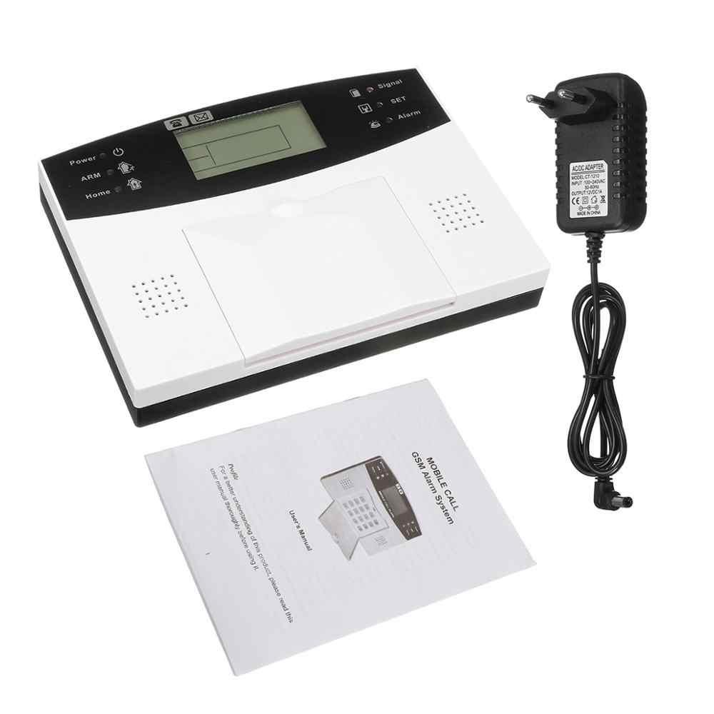 Умный дом ЖК GSM сигнализация система сигнализации хост с голосовой подсказкой двухсторонний Интерком ЕС вилка безопасности дома Беспроводная сигнализация