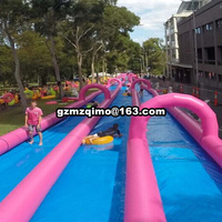 50x5m/100x5m/200x5m super inflatable water slide, water amusement park inflatable water slide, slide the city slide n slip