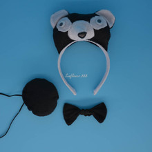 Animal Bear Ear Headband Bow Tail Halloween Party Fancy Dress Decor