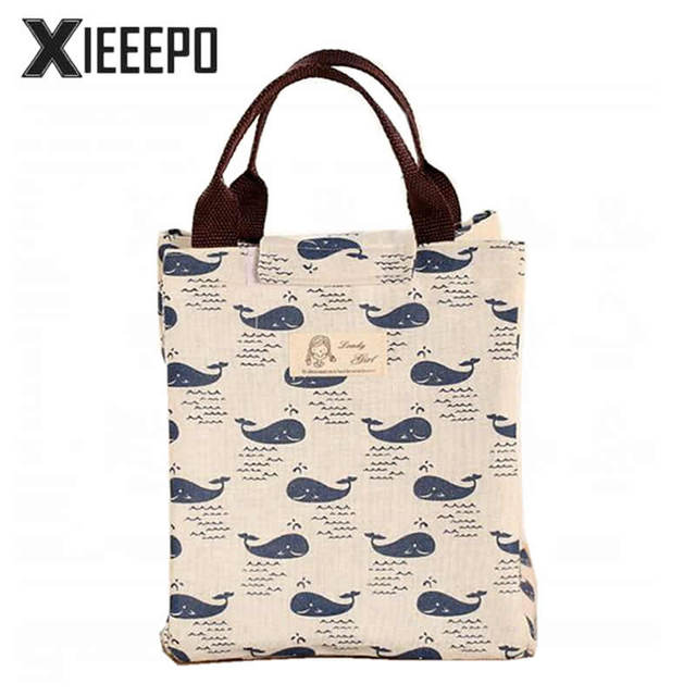 Cute Lunch Bag Portable Insulated Cooler Bags Cartoon Animals Thermal Food Picnic Women Kids