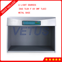 P60+S Color Assessment Cabinet With 6 Light Sources D65 TL84 F UV CWF TL83 Metal Base light Box Color Matching Cabinet