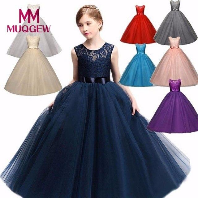 Muqgew Kids S Dress 2018 New Fashion Luxury Flower Princess Formal Pageant Holiday Wedding