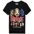 Slipknot T-Shirt de Heavy Metal Para O Sexo Masculino O-pescoço de Algodão Casuais Hop Tees Moda Tide Marca de StreetWear Novidade Camisas Dos Homens Negros