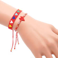 Go2boho MIYUKI Bracelet For Women Red Heart Love Pulseras Mujes Jewelry Couple Handmade Valentines Day Gift