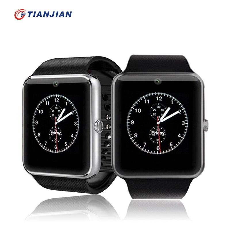 imágenes para Reloj inteligente Bluetooth SmartWatch GT08 Empuje Mensaje MP3 Dispositivos Portátiles Para Android IOS Teléfono Tarjeta SIM Apoyo PK DZ09 GV18