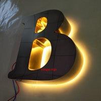 Außen 3D glanzpoliertem edelstahl führte hintergrundbeleuchtung leucht signage-in LED-Module aus Licht & Beleuchtung bei