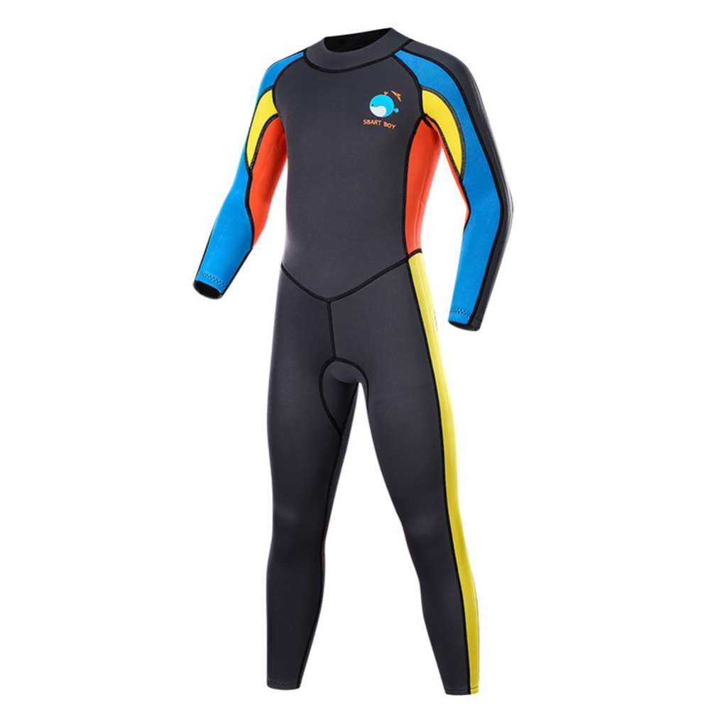 Details about  /Kids 2mm Neoprene Full Body Wetsuit Swimsuit Long Sleeve Warm Jumpsuit Swimwear