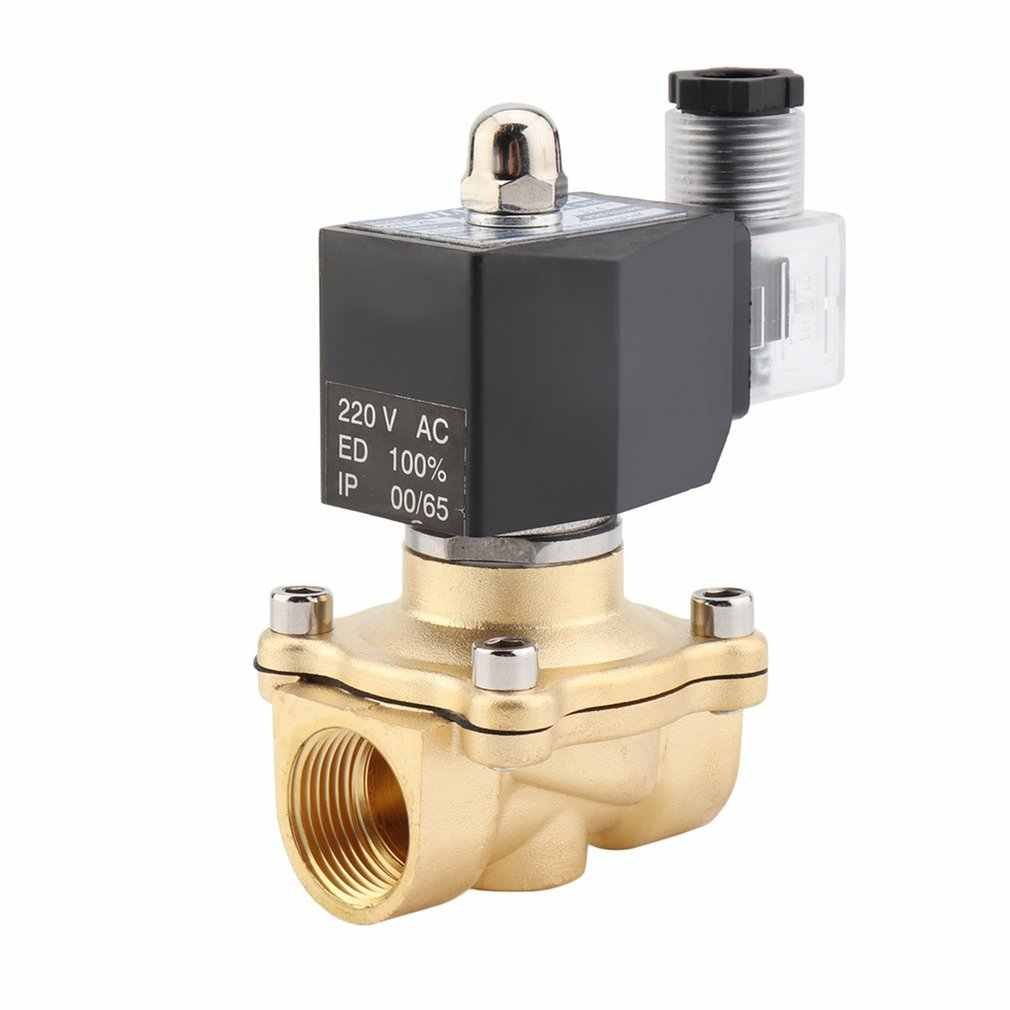 Practical 3/4 Inch AC 220V 2W Square Coil Pure Copper Direct Acting Solenoid Valve Single Electromagnetic Valve