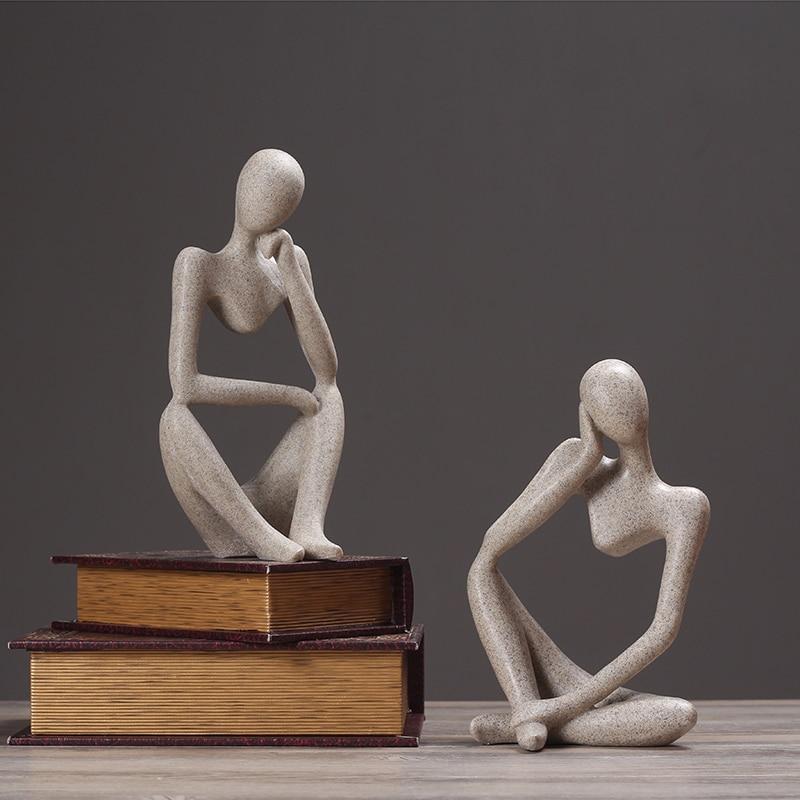 Résine Europe avec Lustre en grès personnages abstraits crâne de sucre décoration de la maison artisanat table figurine halloween cabochon cadeau