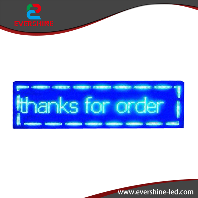 P10 Blue color digital LED scrolling shop sign / electronic screen / led sign display 2 Years Warranty