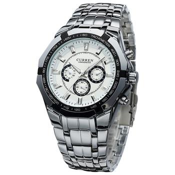 2017 CURREN Watches Men Top Luxury Brand Hot Design Military Sports Wrist watches Men Digital Quartz Men Full Steel Watch 8084 дамски часовници розово злато