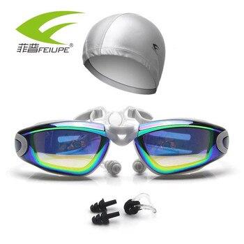 697b5c9f757b Gafas de natación miopía adultos piscina impermeable tapa auricular  prescripción natacion buceo ...