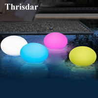 Thrisdar 16 Color Fountain Water Floating Flat Ball Light Disco Spa Bathtub Light Swimming Pool Ball lamp Pond Aquarium Light