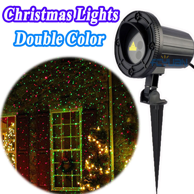 Outdoor Holiday Light Show Projector Christmas Laser Lights Red Green Waterproof IP65 Landscape Garden Home Decorations