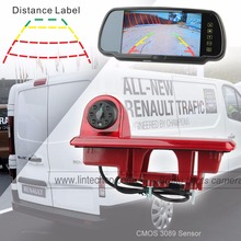 3rd Brake Light Camera With Parking Guide Line For Vauxhall Vivaro Renault Trafic 2014 Year