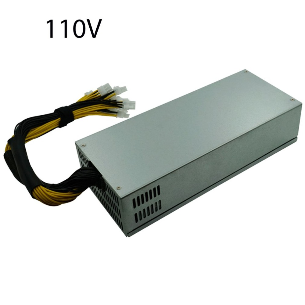 2000W Mining Power Supply For Single Way Antminer S7 / S9 / L3+ / D3 / A4 Portable Bitcoin BTC Mining Machine Power 1800w mining machine power supply for eth bitcoin miner antminer s7 s9 90 gold high quality computer power supply for btc