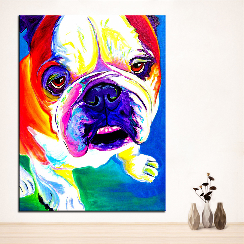 Boy Bask Ya Boya Bulldog Stanley Duvar Tablosu Ev Dekoratif