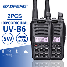 2pcs Baofeng UV-B6 Dual Band Walkie Talkie 10 KM Pofung B6 5W 2000mAh Portable Ham Radio Transceiver PTT Telsiz CB Two Way