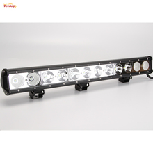 Super Bright 25 Inch Single Row 120W LED Light Bar for Offroad 4*4 SUV ATV Tractor 12V 24V