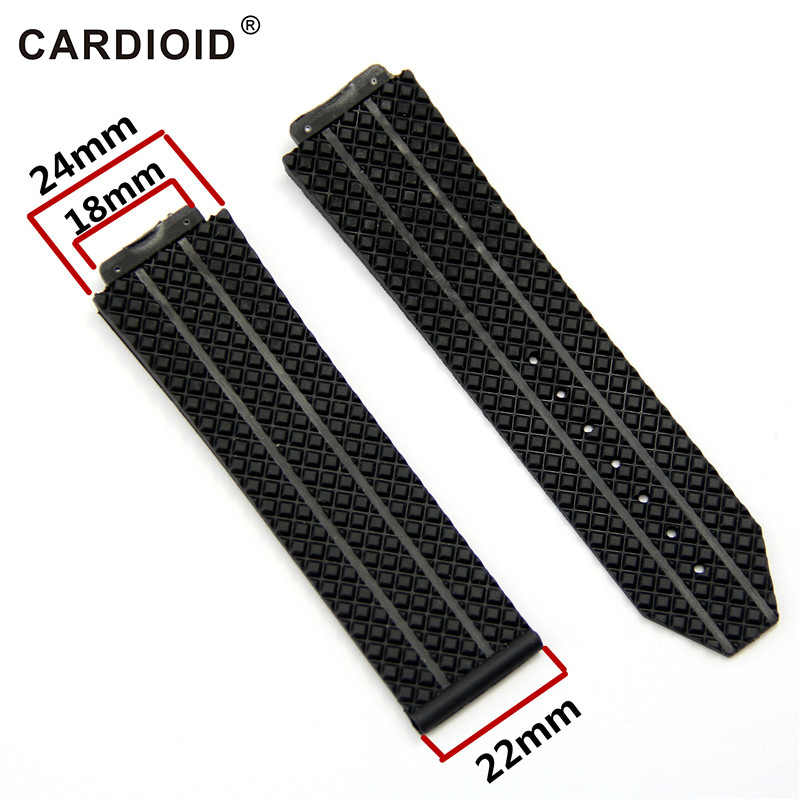 24mm25mmSilicone Editie Mode Horlogeband Voor Hublot Big Bang Serie Skidproof Band Zachte Horloge Band Pols Accessoires