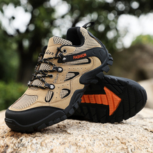 Thestron Rock Climbing Shoes Men Anti-Slip Damping Trekking Outdoor Green Sport Sneakers Hard-Wearing Hiking Camping