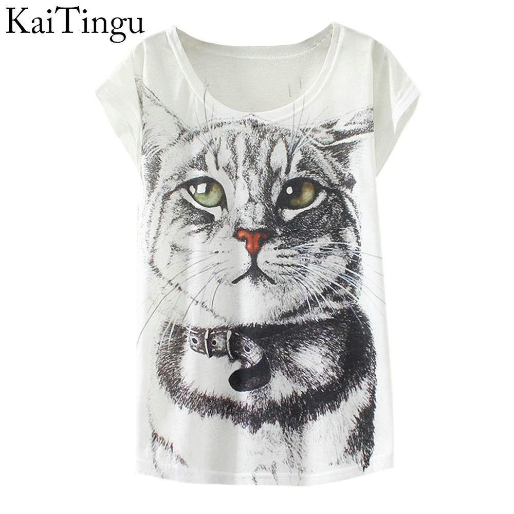 Kaitingu 2019 New Fashion Vintage Spring Summer T Shirt Women