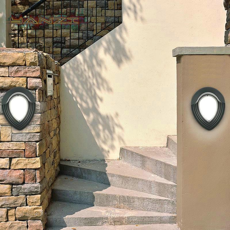 Wall Sconce Outdoor Waterproof Cool White LED Wall Lamp Garden Light Waterproof Wall Lamp Terrace Bar