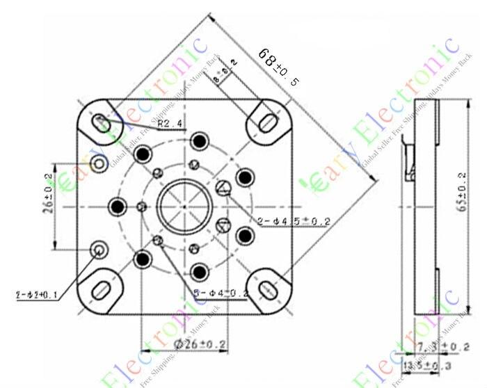 Wholesale And Retail 6pc 7pin Ceramic Vacuum Tube Socket 813 Fu 13