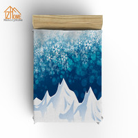 Memoria de Inicio Personalizada Tiro Manta de Paisajes de Montañas de Nieve Nieve Imprimir Lecho de Coral Polar Manta de Tela Bebé, Súper Caliente