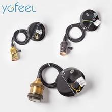 [YGFEEL] Retro Pendant Lamp Holder E27 Vintage pendant lights With Knob Switch Hanging Lights Holder AC110V/220V Indoor Lighting