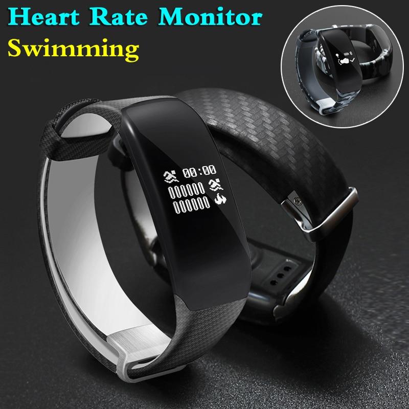 imágenes para Modo de natación a prueba de agua banda de fitness pulsera rastreador inteligente pulsómetro pulsera smartband pk xiaomi mi banda 2 fitbits