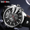 DOOBO Men Watches Top Brand Luxury Gold Male Watch Fashion Leather Strap Casual Sport Wristwatch With
