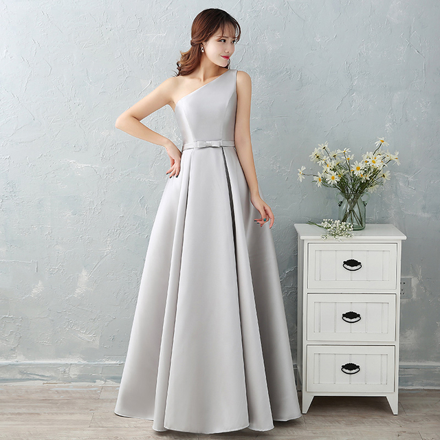 #Luxury Sliver Satin Long #Evening #Dresses #Prom Robe #Party #Gown #girl #grl #boygrl #fashion 4