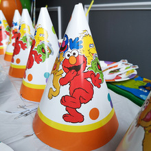 Seasame Street Party Decoration Elmo Disposable Tableware Set Paper Plate/Cup/Napkins/Tablecloth Kid Birthday Supplies