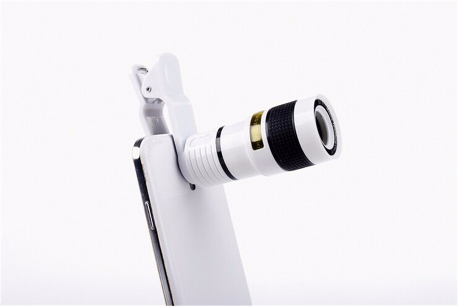 YIFUTE Lenses Universal Clip 8X Zoom Telephoto Lens HD Mobile Phone Camera Lenses For Apple iPhone 5 Samsung Xiaomi Redmi Huawei 4