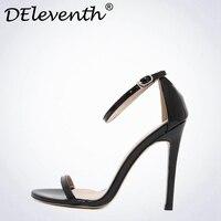 Moda Klasikleri marka ZA R Peep Toe Toka tuzak Yüksek topuklu Sandalet Ayakkabı Kadın Siyah Beyaz Kırmızı Düğün Ayakkabı Fabrika US10