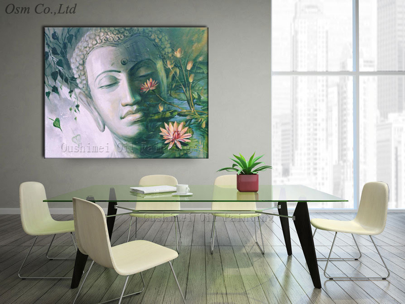 Best Quality Hand Painted Buddha Portrait Oil Painting On Canvas Handmade  Impression Buddha Oil Painting For Living Room