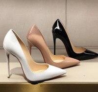 Large Size Shoes Women So Nice Kate Heels 12cm/10cm Black Patent Leather Shoe Pigalle Fashion Wedding Shoes Bridal Women Pumps