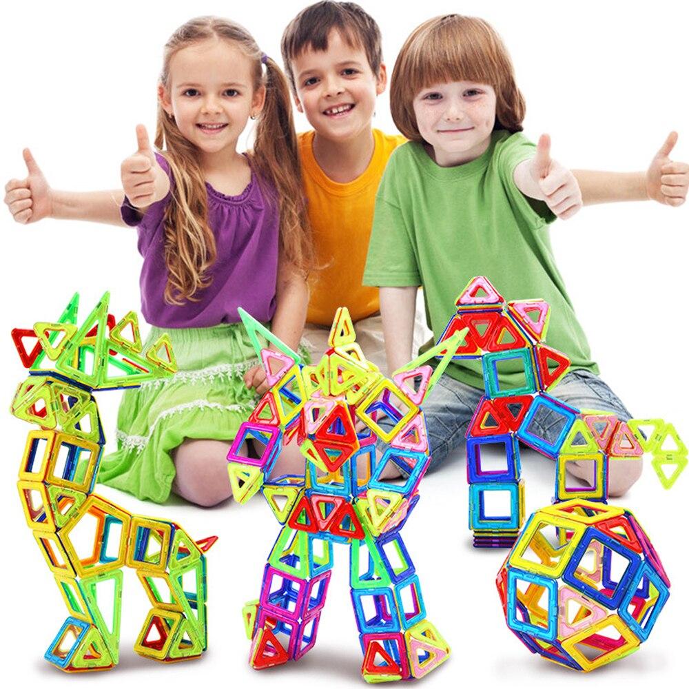 72-110 pièces grande taille concepteur magnétique ensemble de Construction modèle et Construction jouet aimants blocs magnétiques jouets éducatifs pour enfants