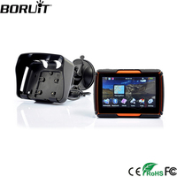 BORUiT 4.3 Inch 256M RAM 8GB Flash Moto GPS Navigator Waterproof Motorcycle GPS Navigation Free Maps
