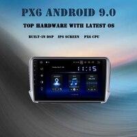 1 din Android 9,0 автомобильный радиоприемник для peugeot 208 peugeot 2008 2012 2017 Автомобильный мультимедийный плеер gps с DSP 4 Гб + 64 Гб ips экран