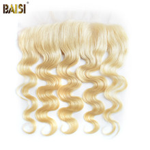 BAISI Brazilian Body Wave #613 Blonde Remy Human Hair Lace Frontal Pre-Plucked Nature Hairline 100% Human Hair(China)