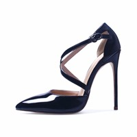 GENSHUO-Shoes-Woman-High-Heel-Pumps-Sexy-Black-High-Heels-Pointed-Toe-Women-Shoes-Brand-Patent