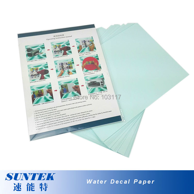 (50pcs/lot)   Laser  Blue Backing Water Transfer Printing Decal Paper A4 Waterslide Decal Paper  for Glass, Ceramic, Candles-in Painting Paper from Office & School Supplies    3