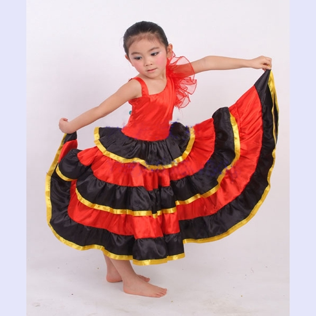 0f5c8e64f Girls Flamenco Dance Costumes Spanish Dance Dress Children Dance Costume  Stage Expansion Dress Spanish Flamenco With Sc 1 St AliExpress.com