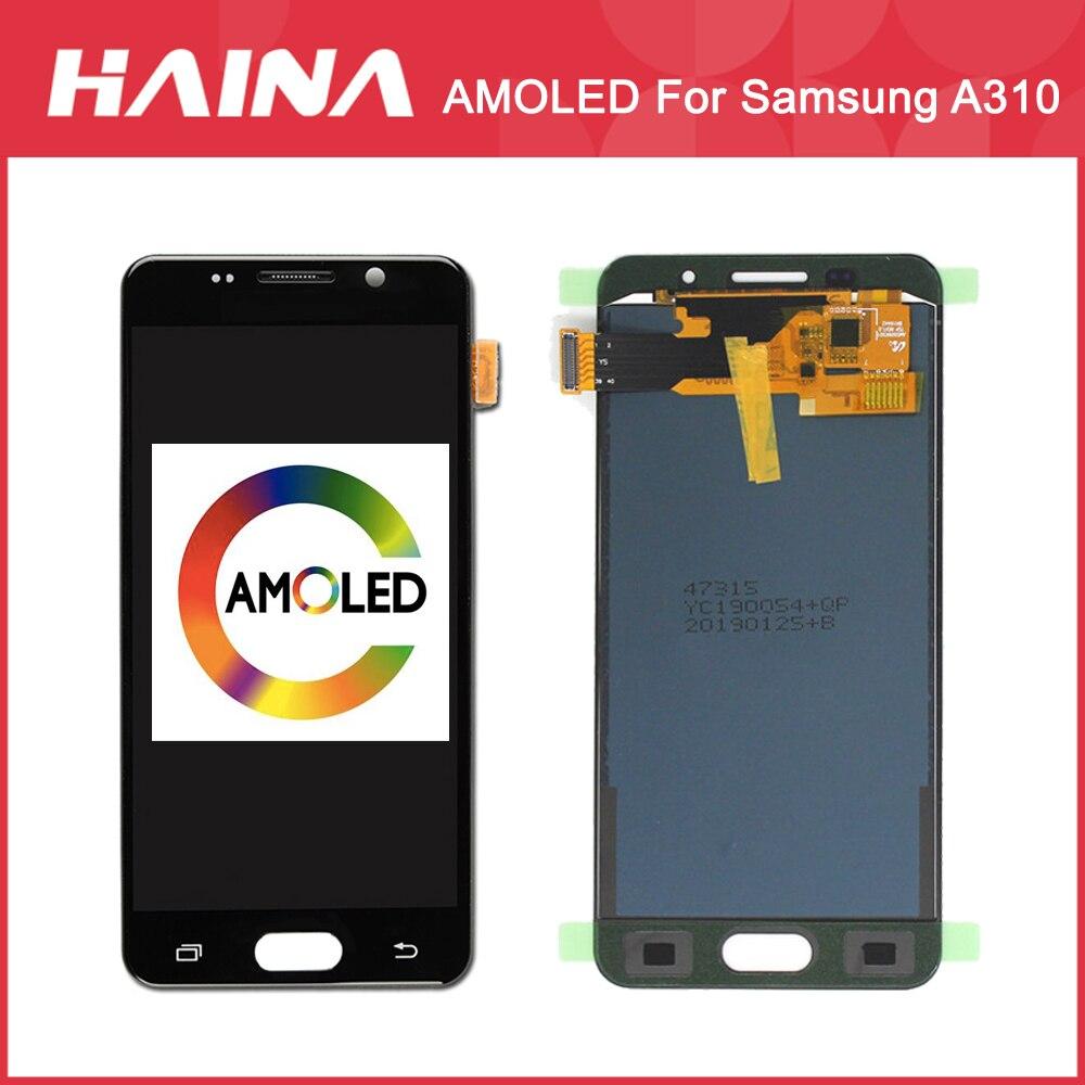 A3 2016 AMOLED Affichage Pour Samsung Galaxy A3 2016 LCD A310F Affichage numériseur à écran tactile LCD pour Samsung A310 A310F Écran