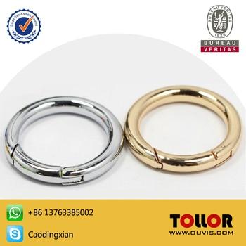 High Quality Bag Parts Adjustable Metal O Ring For Handbag Die-casting Zinc Alloy DIY O-Ring Hardware