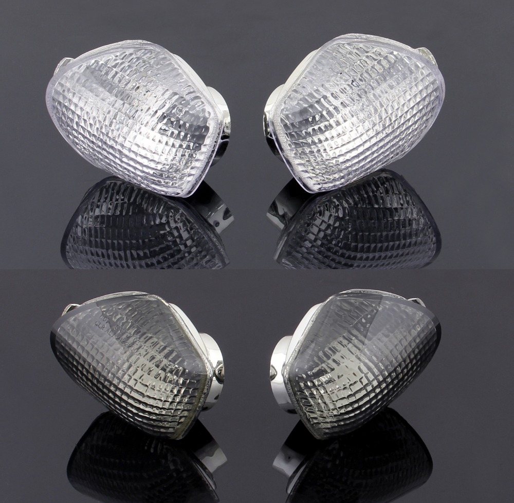 Areyourshop For Honda CBR600 1991-1994 Front Motorcycle Front Turn Signals Light Lens Blinker Cover Clear Smoke Certified