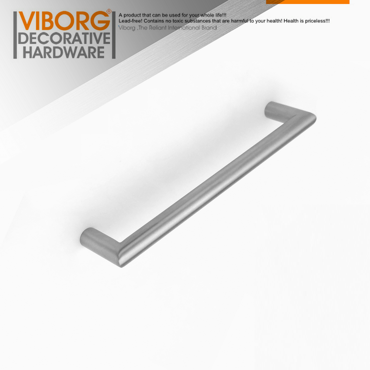 VIBORG Deluxe 160mm Solid 304 Stainless Steel Modern Kitchen Cabinet Cupboard Door Handle Pulls Drawer Pull Handle, SV726 1 pair 4 inch stainless steel door hinges wood doors cabinet drawer box interior hinge furniture hardware accessories m25