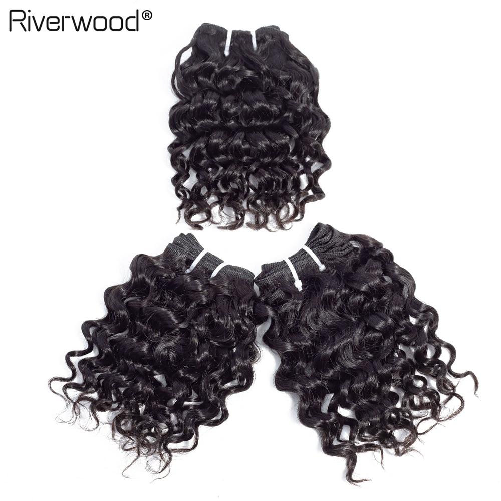 Mongolian Hair Deep Wave Bundles hair Weave #1b Natural Color Human Hair Extension 3PCS/Lot Remy Hair Bundles 2/3 Lots For a Wig